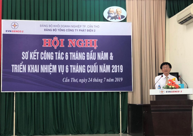 Đồng chí Trương Thiết Hùng, Bí thư Đảng ủy phát biểu tại Hội nghị