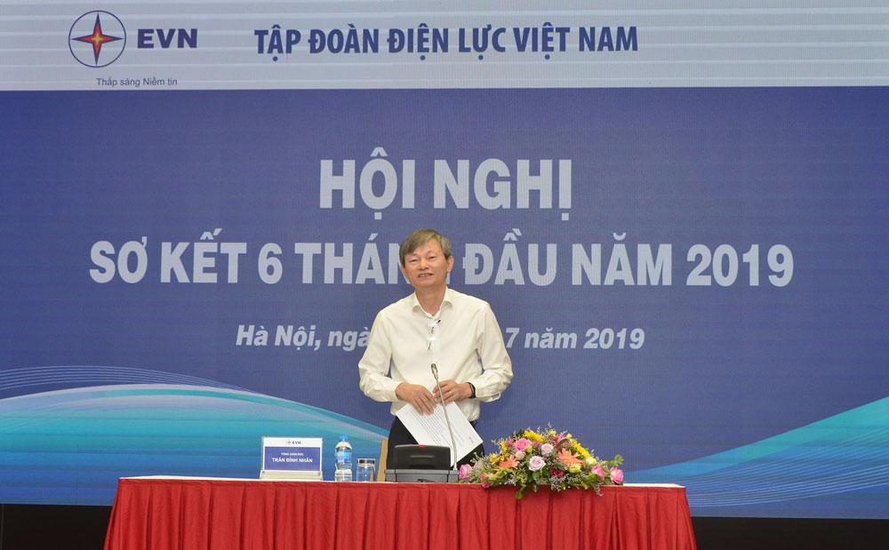 Ông Trần Đình Nhân - Tổng giám đốc EVN chủ trì Hội nghị