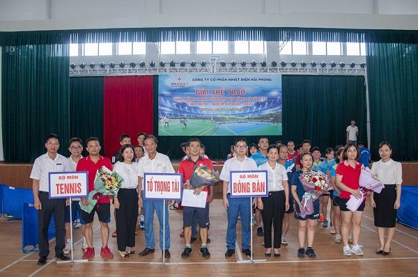 Hình ảnh khai mạc giải hội thao của Công ty Cổ phần Nhiệt điện Hải Phòng