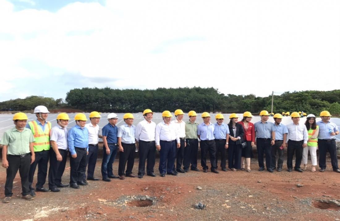 Đoàn công tác thăm công trường - Dự án Nhà máy điện mặt trời Thác Mơ
