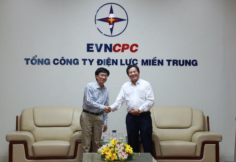 Chủ tịch HĐTV EVNCPC Trương Thiết Hùng và Tổng giám đốc EVNGENCO2 Trương Hoàng Vũ